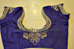 royal blue aari work