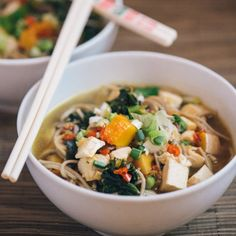 Winter Soba Noodle Soup with Hot Chili Sesame Oil