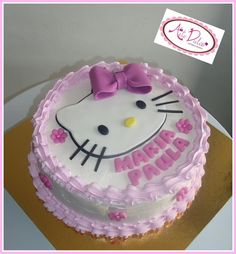 Hello Kitty Buttercream Cake My Cakes Pinterest Hello Kitty