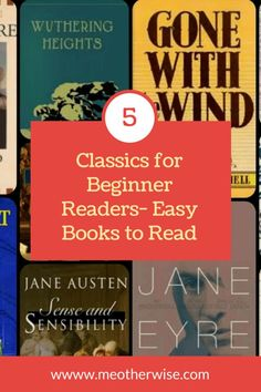 If you are beginner reader and are looking for easy classics to get started off, here are five popular choices. These books have a great story and also are easy on the narration. Good Books, My Books, Books To Read, Classic Literature, Classic Books, Reading Lists, Book Lists, Reading Books, Classics To Read