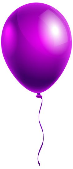 Single Purple Balloon PNG Clipart Image