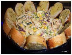 Sałatka kebab z sosem czosnkowym i grzankami - My WordPress Website Pierogi Recipe, Grill Party, Polish Recipes, Ham And Cheese, Dinner Recipes, Food And Drink, Appetizers, Cooking Recipes, Favorite Recipes