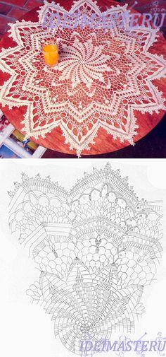 Napkin round crochet...♥ Deniz ♥