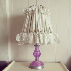 DIY Lampshade Ideas: How to Make and Update Lampshades: Fabric Strip Lampshade
