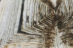 by Abi Lynne Wright Book Cover Design, Book Design, Altered Books Pages, Book Works, Book Sculpture, Paper Artwork, Sketchbook Inspiration, Book Images, Handmade Books