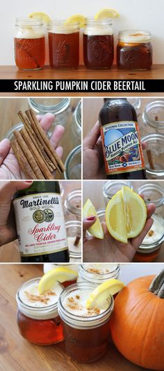 Sparkling Pumpkin Cider Beertail // A great recipe! {I made these for Thanksgiving and they were a hit.  Even my mom, who doesn't ever drink beer, indulged in one and loved it :)}