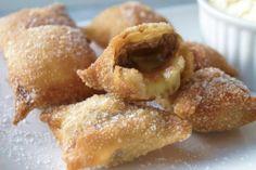 fried banana wontons