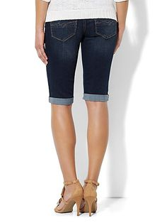Soho Jeans Bermuda Short -  Millennium Blue Wash  - New York & Company