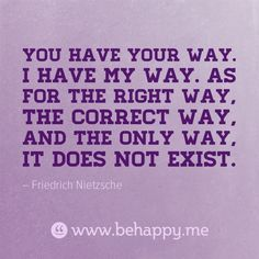 You Have Tour Way #behappy.me