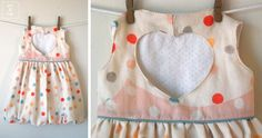 sweetheart dress (pattern by luvinthemommyhood) with bubble skirt in nani iro :: you and mie