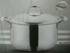 Stainless Steel Casserole Pot, 10.56 Quart. 11 Inch by RK. $65.07. 10.5 quart capacity. Suitable for electric, gas, ceramic or halogen burners. Stainless domed lid. 18-10 Stainless steel, 3-ply base. 11 Inch in diameter x 7 inch in Height. Made from premium quality Stainless steel with a 3-layerded bottom, suitable for electric, gas, ceramic or halogen burners, includes domed lid.