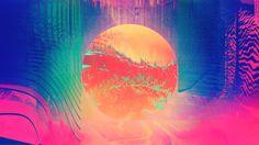 Glitch art abstract webpunk glitch art abstract circle 1920x1080 acid