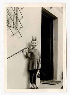 Rabbit - vintage photo finds