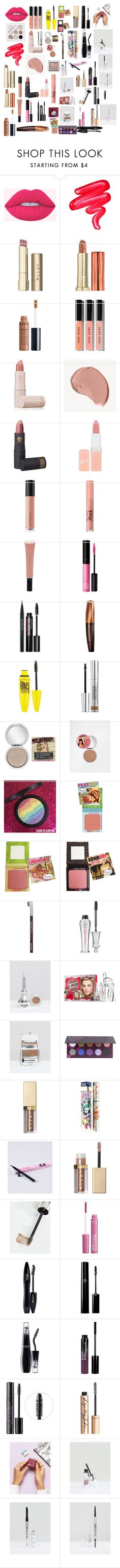 """Makeup"" by mikahelaine ❤ liked on Polyvore featuring beauty, Lime Crime, Stila, Urban Decay, Charlotte Russe, Bobbi Brown Cosmetics, Lipstick Queen, Burberry, Rimmel and Bare Escentuals"
