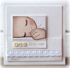 WOW! card as art...sleeping baby image on layers of white...