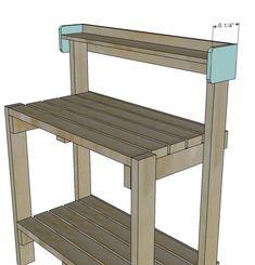 Ideas Diy Garden Bench Plans Ana White For 2019 Outdoor Potting Bench, Pallet Potting Bench, Potting Tables, Garden Bench Plans, Garden Shed Diy, Garden Table, Garden Ideas, Garden Pots, Pallet Furniture