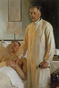 """Professori J.Runebergin Muotokuva"" by Albert Edelfelt Nurse Art, Vincent Van Gogh, Vintage Medical, Vintage Nurse, Socialist Realism, Soviet Art, Medical Art, Call Art, Portraits"