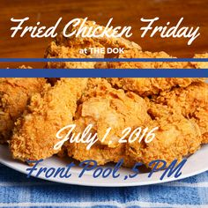 Fried chicken Friday is BACK, ya'll! Come enjoy the pool, some delicious fried chicken, succulent sides, and get to know your neighbors THIS Friday at 5 p.m.! It's gonna be a good one, so don't miss out! #fcf #tgif #almostthere #summertime