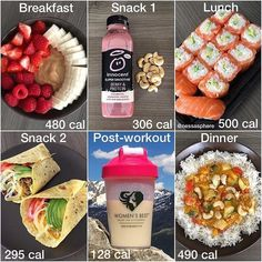 Honestly I am probably going to eliminate breakfast and snack 2 but I am definitely eating sushi tomorrow Healthy Recipes Dinner Lunch Breakfast Brunch Easy Quick Fast DIY Healthy Meal Prep, Healthy Snacks, Healthy Eating, Healthy Recipes, Breakfast Snacks, Health Breakfast, Food Diary, Meal Planning, Cooking Recipes