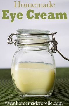 Homemade Eye Cream. Improve the delicate skin around the eyes using the natural qualities of coconut oil, vitamin e oil, primrose oil and essential oils.