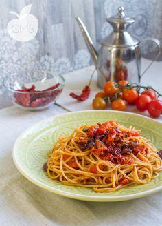 + Spaghetti puttanesca-to-middle-