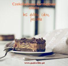 Szybkie ciasto bez glutenu, czekoladowo-karmelowe - paleolife Healthy Recepies, Vegan Cheesecake, Dessert Recipes, Desserts, Sugar Free, Paleo, Food And Drink, Gluten Free, Sweets
