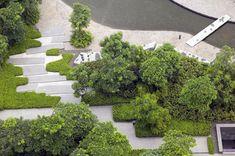 Poly International Plaza - ландшафтный дизайн территории Международного торгового центра в Китае