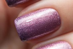 Top 10 Nail Art Ideas that you will Love ~ Pink Purple ~ This electric pink-purple glittery nail polish is the perfect one for crazy night outs at the disco. If you're in a good party mood, but you're not sure whether you should put some rings or bracelets, don't think twice – apply this color and you won't need any accessorizes.