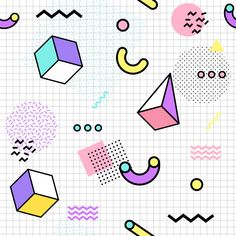 More than 3 millions free vectors, PSD, photos and free icons. Exclusive freebies and all graphic resources that you need for your projects Memphis Design, Memphis Art, 90s Pattern, Pattern Art, Pattern Design, Vector Pattern, Design Design, Retro Background, Seamless Background