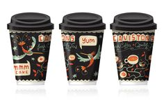 Sweet coffee cup wraps