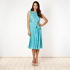 Aqua organza front dress Debenhams 2013