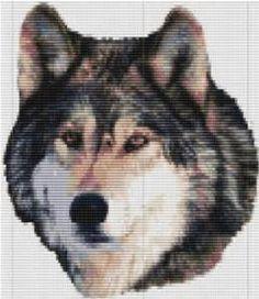 Loom Pattern Wolf Bead Tapestry Delica seed Bead