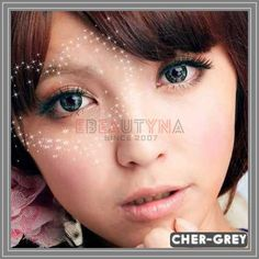 Cherry Grey Diameter : Base Curve : Water Content : Life Span: 1 Year Disposable (recommend use for months) with proper lens care. Package : 2 pieces of lenses ( Vials / Blisters – vary by series ) Origin: South Korea Grey Contacts, Colored Contacts, Circle Lenses, Christmas Sale, 8 Months, South Korea, 1 Year, Catalog, Cherry