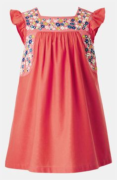 Mini Boden Embroidered Dress (Toddler, Little Girls & Big Girls) | Nordstrom