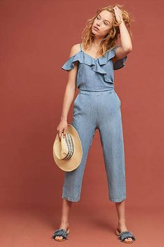 Michael Stars Ruffled Open-Shoulder Jumpsuit Fashion Group 04f10d1be
