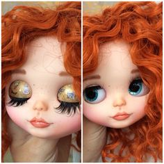 Meet Cat. She is a Factory Blythe doll customized by me. She will come with the clothes she wears in the photographs. Work done on Cat include: - her original makeup sanded off - carving of the lips, philtrum, nose, nostrils and two tiny teeth - chalk pastel makeup applied to her face - multiple coats of MSC applied to protect her makeup - glossing of the lips - acrylic paint applied to her eyelids - new eye lashes inserted - 4 new sets of eyechips (All hand painted) - gaze corrected and…