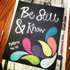 Be still & know Bible canvas