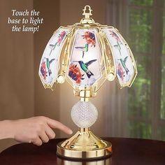 Hummingbird-Touch-Lamp-With-Three-Brightness-Levels-Glass-Iron-16-1-2-034-H