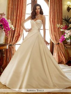 Sophia Tolli - Desiree - Y11721 - All Dressed Up, Bridal Gown-Bridal Gown-Mon Cheri-0-Ivory-All Dressed Up - Bridal Prom Tuxedo