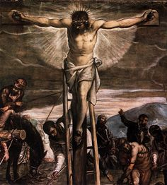 Crucifixion - detail by Tintoretto, 1565