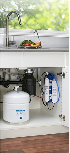 Home Master TMAFC Artesian Full Contact Undersink Reverse Osmosis Water Filter System,White.  Filter element and the filter housing are all-in-one modular assembly for quick and easy annual changes - No wrenches necessary... Water Filtration System, Water Systems, Reverse Osmosis Water Filter, Best Reverse Osmosis System, Water Waste, Water Purification, Water Treatment, Simple House, Camping Water