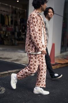 Pajama street style makes me happy.