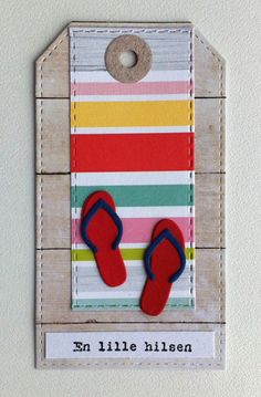 Tag sea seaside beach summer time flipflops flip flops TE Taylored Expressions, MFT stitched tag stax Die-namics,   Echo Park Spring paper collection, Studiolight PPSL39 - JKE