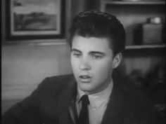 Lonesome Town - Ricky Nelson.. ANY RICKY FAN NEEDS TO WATCH THIS LIKE OMG HE'S GOT HIS EYE LASH BATTIN' SLOW BLINKIN' STUFF GOING IN MAXIMUM OVERDRIVE OMG