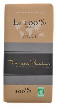 Francois Pralus chocolate 100%. That's right, 100% dark chocolate. Dare you!