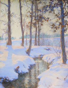 Walter Launt Palmer (1854-1932), Brook in Winter.