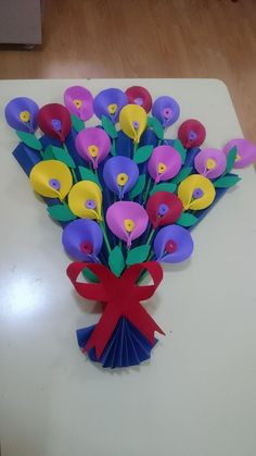 Origami For Kids Flowers Decoration 70 Ideas Foam Crafts, Preschool Crafts, Diy And Crafts, Craft Projects, Crafts For Kids, Arts And Crafts, Paper Crafts, School Decorations, Flower Decorations