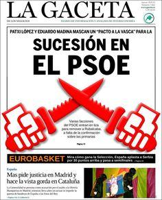 Los Titulares y Portadas de Noticias Destacadas Españolas del 19 de Septiembre de 2013 del Diario La Gaceta ¿Que le pareció esta Portada de este Diario Español?