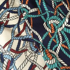 Ropes ropes ropes!  Can't get enough of this gorgeous print on our Catalina dress!