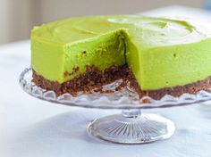 Avocado Lime Cheesecake with a cacao nib and pecan biscuit base - HEMSLEY & HEMSLEY